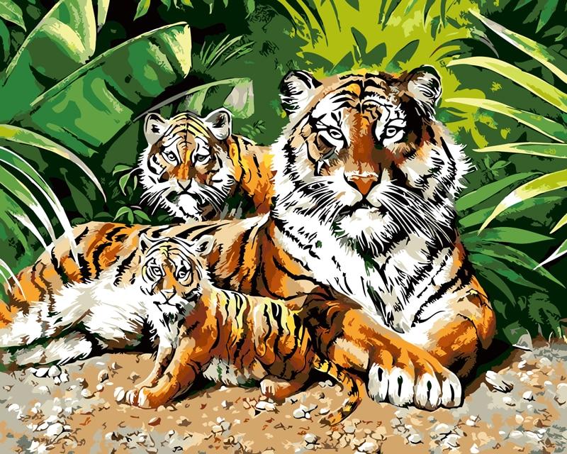мои открытки животные тигр мандариновой, тыквенной