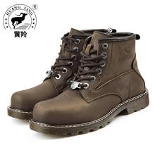 2018 HUANGLING Winter Men Martin Boots Size 38-44 Fashion Handcraft winter Men Shoes