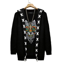 8XL 7XL 9XL Men Sweater Autumn Winter Knitted Solid Simply Style Pullover Casual Loose Sweater Jumper Male Black Outerwear