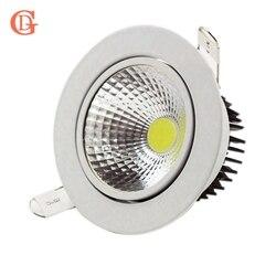 GD ściemniania LED oprawa wpuszczana 3W 5W 7W 10W 12W 15W 20W 24W Spot oświetlenie sufitowe led 110V 220V 230V COB led typu downlight