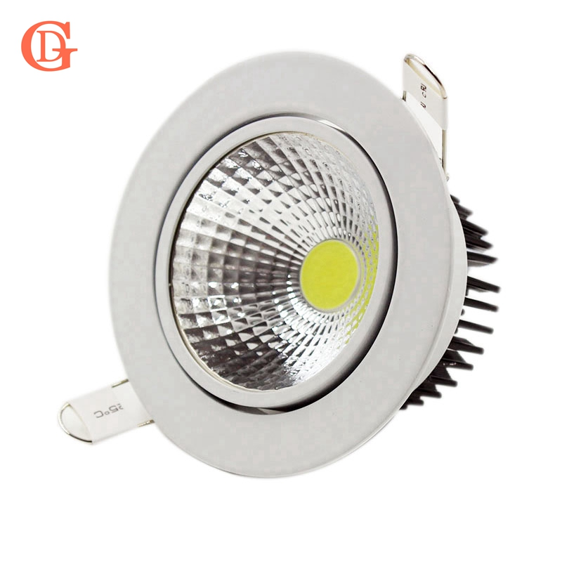 GD Dimmable LED Downlight encastré 3W 5W 7W 10W 12W 15W 20W 24W Spot LED plafond vers le bas de la lumière 110V 220V 230V COB LED Downlight