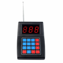 999 Channel Call Button Keypad Transmitter for Wireless Calling Paging Queuing System Buzzer Quiz Beeper Equipment F4477A