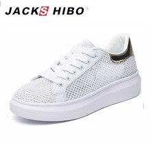 JACKSHIBO Mode Air Mesh Plateauschuhe Frauen Sommer Atmungsaktive Schuhe Design Bling Ferse Weiblichen Turnschuhe Chaussures Femme