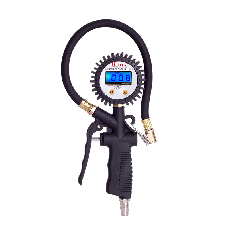 LCD high precision electronic display tube air pressure gauge for automotive tire inflatable rubber test aluminum zinc alloy gyro pressure zinc alloy reducing toy for office worker