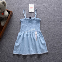 Girls Sunny Dress 2016 Kids Summer Sleeveless Dress