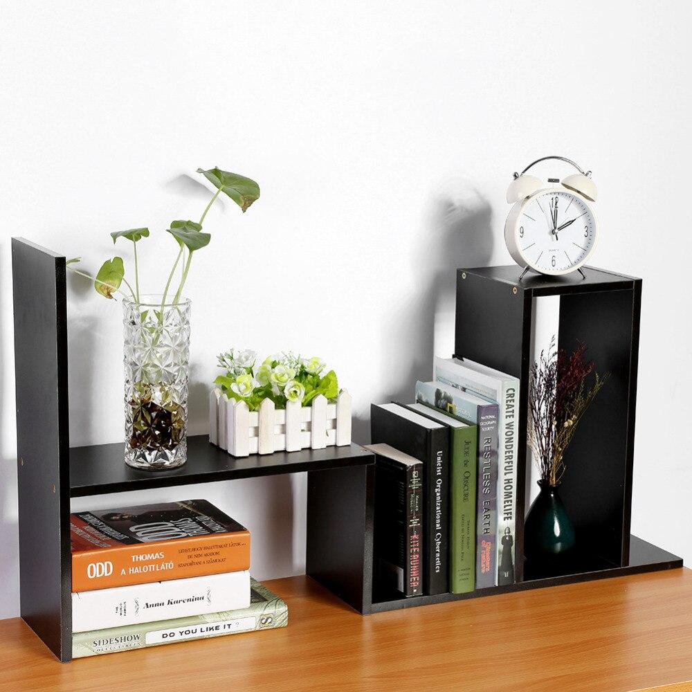 Computer Desk Bookshelf Desktop Bookcase Student Easy Shelves Small ...