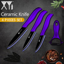 "XYj Ceramic Knife Kitchen Knife Set New Arrival 2018 Light Weight Kitchen Ceramic Knife Set 3"" 4"" 5"" inch Cooking Knife Tools(China)"