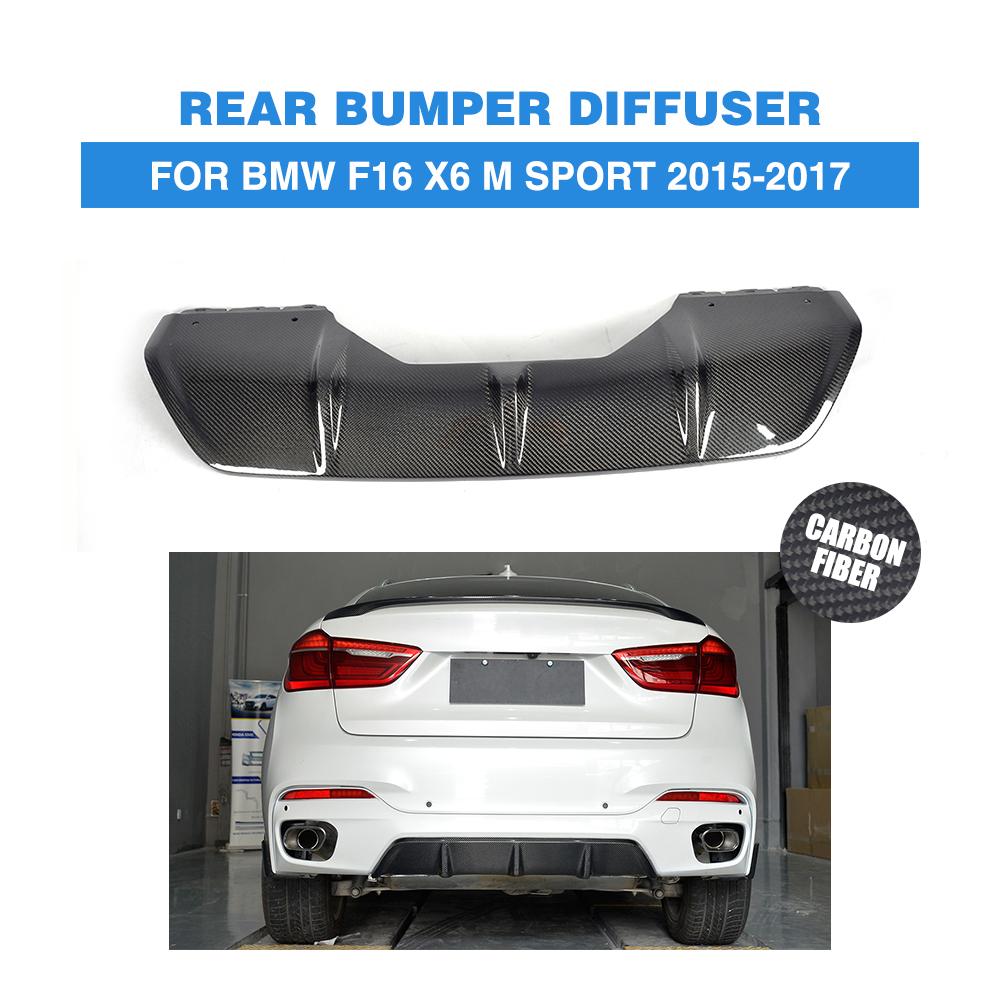 Bmw Xdrive35i Price: Carbon Fiber Rear Bumper Exhaust Diffuser Lip For BMW X6