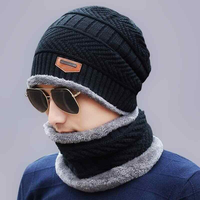 5728b93a 2018 Men Beanies Knit Hat Winter Cap For Man knitted Cap Boys Thicken  Hedging Cap Balaclava