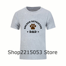 Men T Shirt Fashion Orang Cotton Golden Retriever Dad Short Sleeve TShirts For Sale MALE Costume T-Shirt canada feyenoord JERSEY(China)