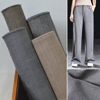 2019 Bazin Riche Getzner New Retro Micro Vertical Moving Words Lines Suit Pants Spring Thin Hand made Diy Jumper Skirt Fabrics