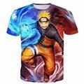 Новые Аниме футболки Классический Наруто Печать футболки Hipster Пространство узумаки Наруто 3D майка Мужчины Женщины Летние Случайные теэ рубашки