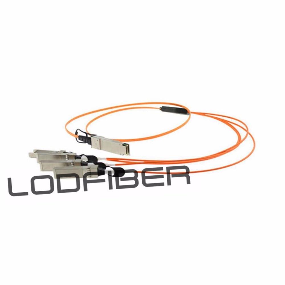 2m (7ft) H3C QSFP-4X10G-D-AOC-2M Compatible 40G QSFP+ to 4x10G SFP+ Breakout Active Optical Cable2m (7ft) H3C QSFP-4X10G-D-AOC-2M Compatible 40G QSFP+ to 4x10G SFP+ Breakout Active Optical Cable