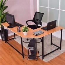 Goplus L-Shaped Corner Computer Desk PC Latop Study Table Modern Workstation Home Office Desk Commercial Furniture HW56370