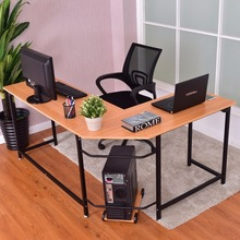 Goplus L-Shaped Corner Computer Desk PC Latop Study Table Modern Workstation Home Office Desk Commercial Furniture HW56370
