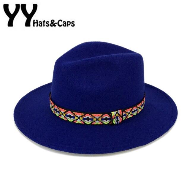8f61f7cb85d92 Cloche lana las mujeres sombrero de moda Fedora sombreros hombres vintage  Trilby Cap con cinta unisex