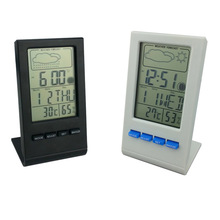 Gift thermometer and hygrometer, year, month day weather conditions display hygrometer