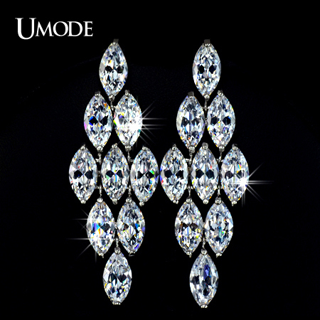 font b UMODE b font Top Quality AAA Cubic Zirconia Stones Fashion Chandelier Drop font