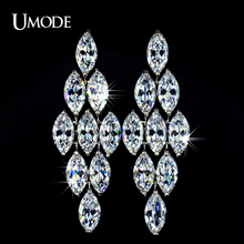 UMODE Top Quality AAA Cubic Zirconia Stones Fashion Chandelier Drop Earrings For Women Birthday Gifts Jewelry