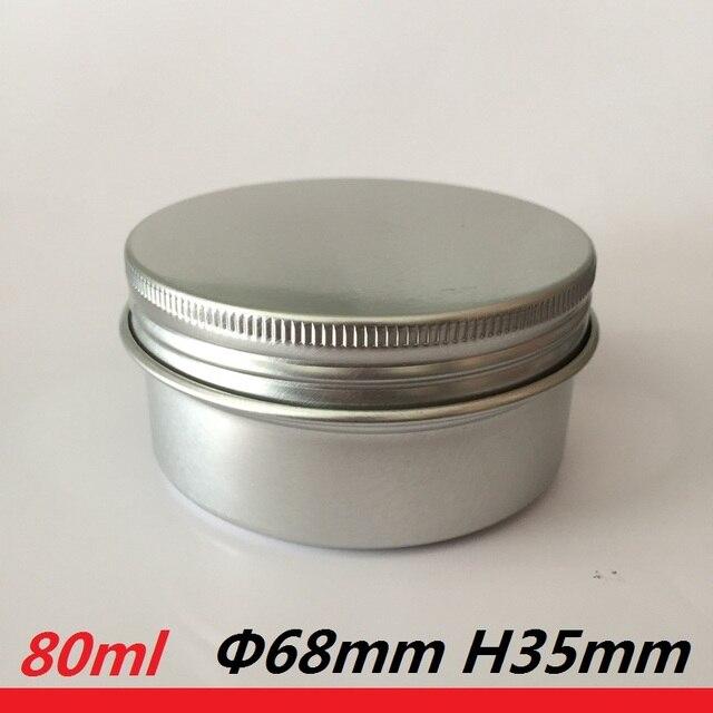 Tóc Wax Trường Hợp kim loại container có thể rỗng nhôm jar nồi 80 gam cà phê thiếc 80 ml 2.8 oz thiếc tròn jar cho xà phòng làm bằng tay bơm lại