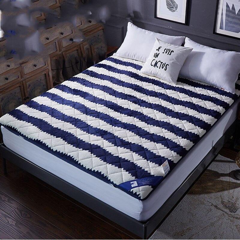 FangHua Thicken Keep warm Mattress Foldable Single double Foam Tatami For Family Bedspreads King Queen Twin Full Size цена