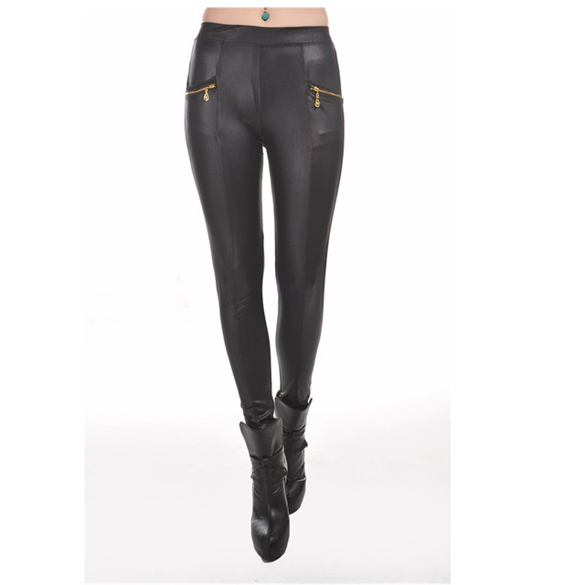 T2321 New arrival casual solid pant leggings black new hot fashion women leather pants wet look new hot fashion leather leggings