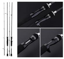 цена на 1.8m 2.1m 2.4m Spinning / Casting Rod 2 Section Carbon Fiber Lure Fishing Pole M Power Canne A Peche Vara De Para Pesca A049