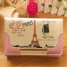 2016 Fashion New Designed Women Cute Print Leather Long Button Purse Wallet Card Holder Gift Hot Sale Holders