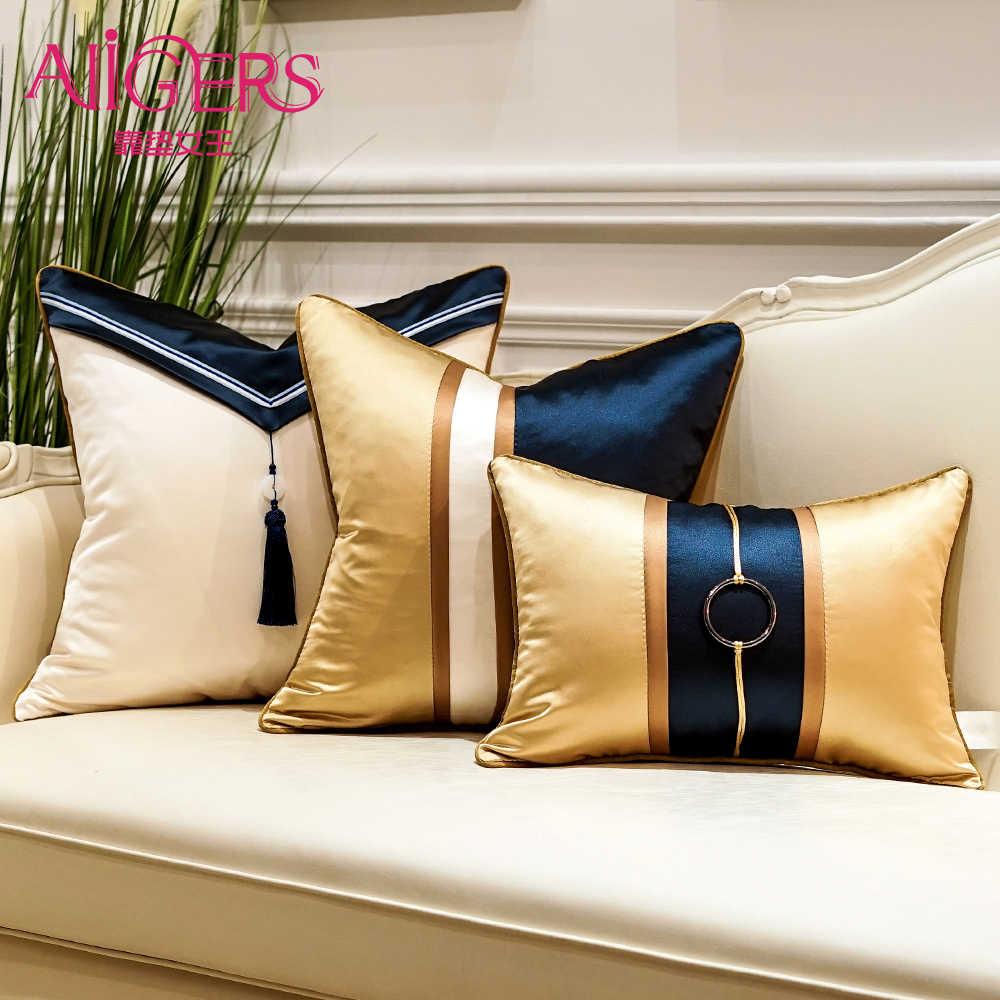 Avigers luxo retalhos moderno coxim capas com borlas lance fronhas decorativas para casa 45x45 50x50