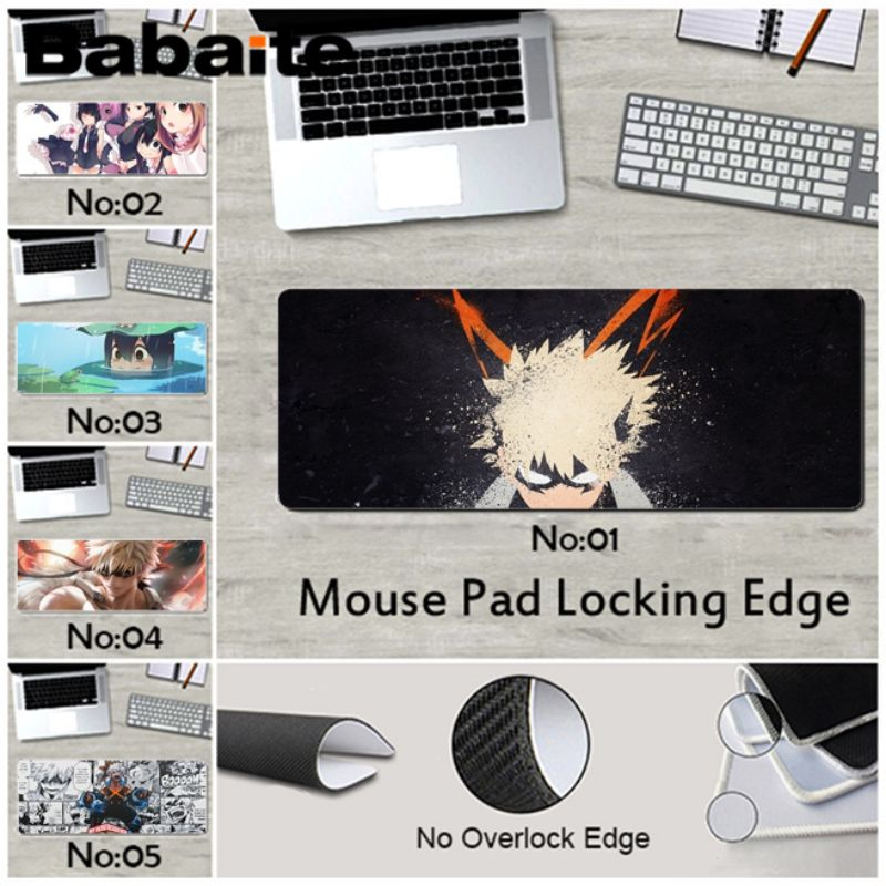 Babaite New Arrivals My Hero Academia Bakugou Katsuki laptop Gaming mouse pad rubber for league of legends mouse pad mousepad image