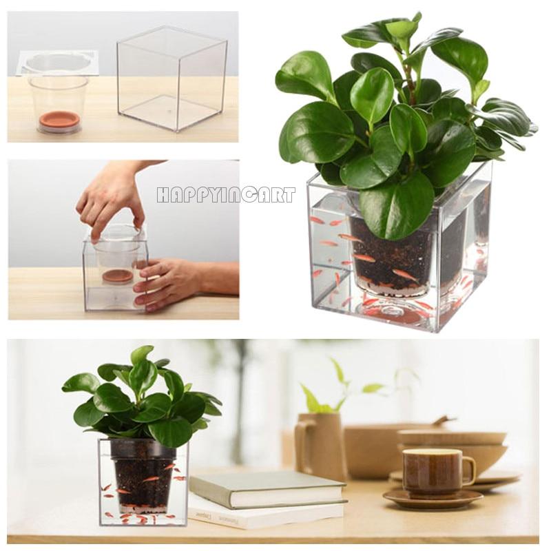 Creative Office Desktop Free Irrigation Plant Pot Planter