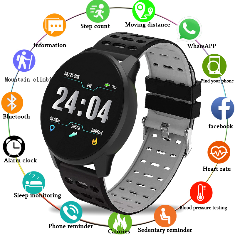 WISHDOIT Sports watch Blood Pressure Heart Rate Sport Mode Smart Watch Mens Women Fitness tracker Waterproof clock For AndroidWISHDOIT Sports watch Blood Pressure Heart Rate Sport Mode Smart Watch Mens Women Fitness tracker Waterproof clock For Android
