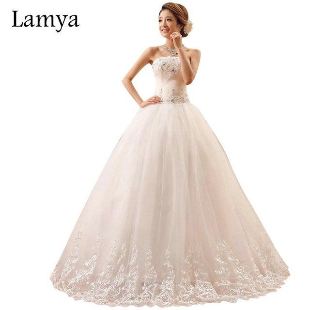 Lamya Mode Spitze Rand Vintage Hochzeit Kleid Sommer Bogen Plus Size ...