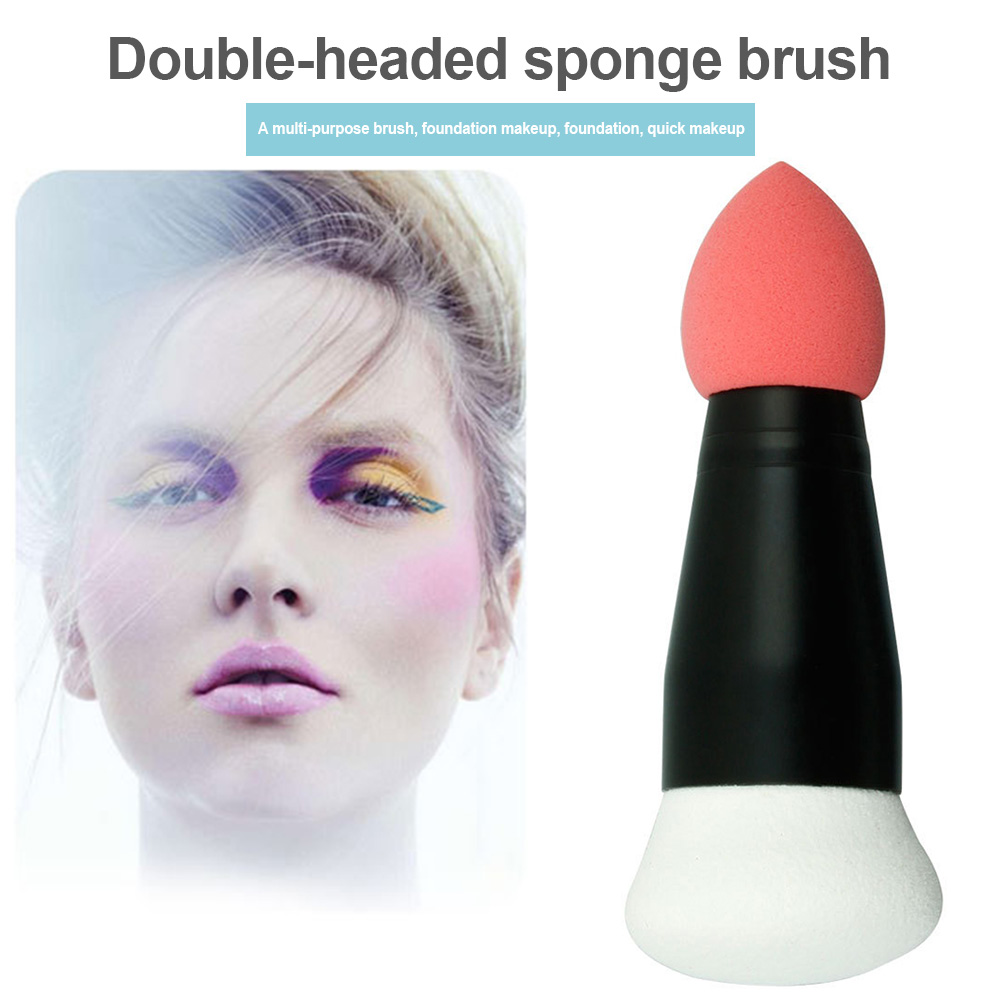 Dropshipping Makeup Brush Dual Head Portable Foundation Eyeshadow Beauty Makeup Tools for Women SMJ