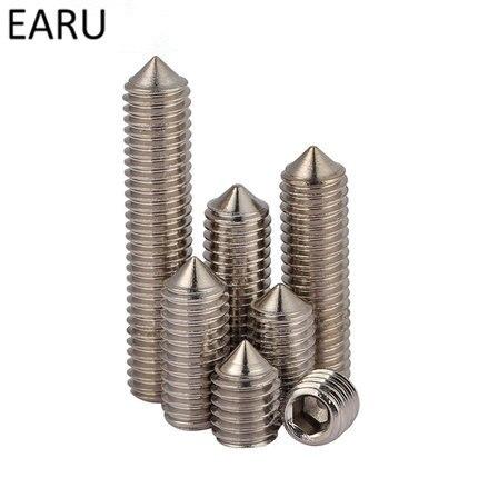 316 Stainless Steel Tip Set Inner Hexagon Hex Socket Headless Fastening screw Machine M8*8/10/12/16/20-30mm F