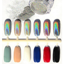 Hot Sliver Nail Glitter Powder Shinning Mirror Eye Shadow Makeup Powder Dust Nail Art DIY Chrome Pigment Glitters Fashion