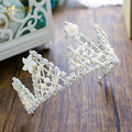 GorgeousTiara Crystal Women Crown whole round rhinestone Baroque hair ornaments crown marriage Wedding Party Accessories xueguo