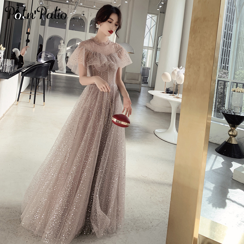 Sexy Backless   Evening     Dresses   Long 2019 Summer Luxury Sequined Tulle Ball Gown Formal   Dresses   For Women Plus Size