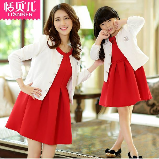 daf683a05a0 Fashion autumn family clothing mother daughter matching dresses mom and daughter  set dress mother daughter matching dresses