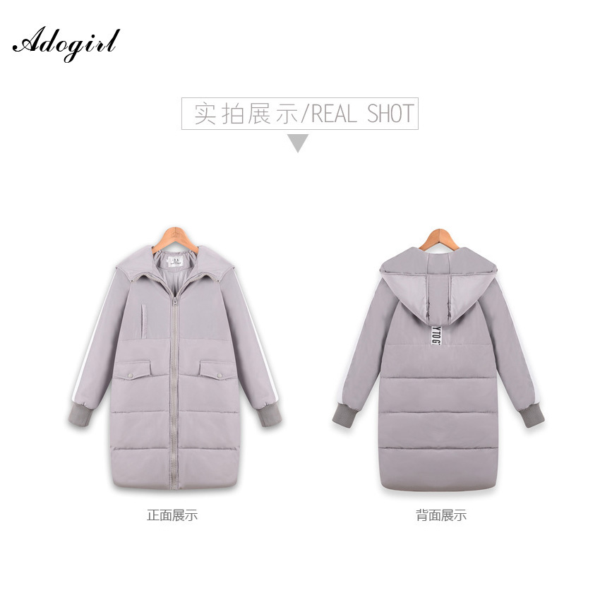 Adogirl 2016 Winter Thickening Women Jackets Parkas Down Women's Wadded Outerwear Fashion Cotton-padded Jacket Medium-long Coats