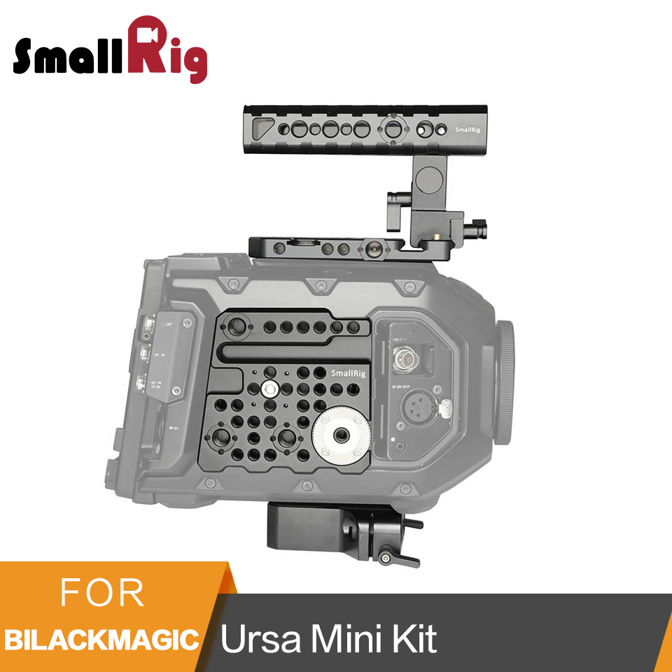 SmallRig Camera Accessories Kit for Blackmagic URSA Mini including Top Handle,Side Plate ,Top Plate, U-Base Plate -1902