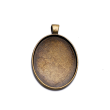Antique Retro 30x40mm Pendant Base Settings Cabochon Cameo Tray Bezel Blank Fit Cabochons Cameo Jewelry Findings mibrow 10pcs lot stainless steel 8 10 12 14 16 18 20mm blank french lever earring tray cabochon setting cameo base jewelry
