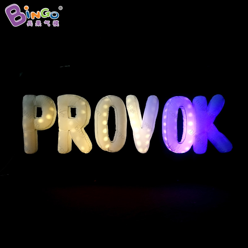 FACTORY OUTLET customized 3x0.5x1.5m inflatable LED lighting alphabet multi-functional inflatable toy for decoration