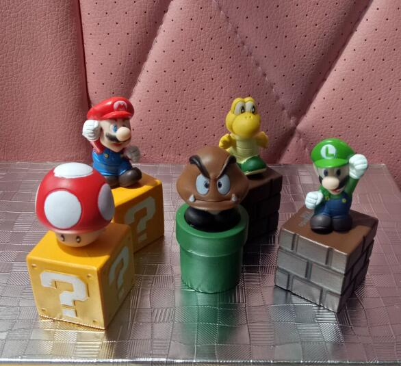 5pcs/set super mario bros figure action figures model toys Mario brothers doll toys anime High Quality PVC baby toy
