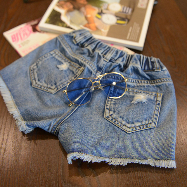 Купить джинсовые шорты для девочек летние хлопковые и мальчиков одежда картинки