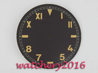 38.9mm Parnis black watch face dial fit ETA unitas 6497 Movement watch dial