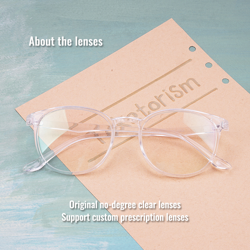 Toketorism transparent glasses men women 39 s fashion 2019 prescription miopia glasses frames 0242 in Men 39 s Eyewear Frames from Apparel Accessories