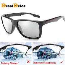 2019 Photochromic Polarized Sunglasses Men Car Driving Goggles Chameleon Sunglass Male Discoloration Glasses B1037