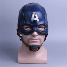 Cosplay Captain America 3 Mask Avengers inbördeskrigsmask Halloween Helmet Latex Mask Cosplay Kostym