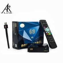 S V6 S-V6 HD TV Vía Satélite Receptor Apoyo Intercambio De Tarjetas CCcam NEWcam DVB-S2 Receptor Biss Clave WebTV USB Inalámbrico 150 Mbps adaptador